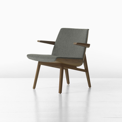 Clamshell Lounge Lowback Wood Armchair | Lounge chairs | Geiger