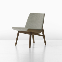 Clamshell Lounge Lowback Wood Armless Chair | Lounge chairs | Geiger