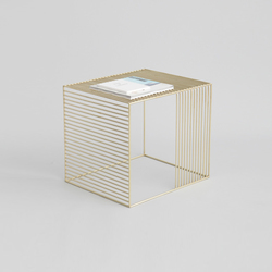 Wire Side Table Brass | Mesas auxiliares | Iacoli & McAllister