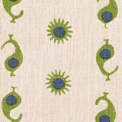 Casablanca 1 Natural/Margarita Green & Electric Blue | Dekorstoffe | Kathryn M Ireland