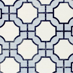 Imperial Gates Periwinkle and Navy | Wall coverings | Phillip Jeffries