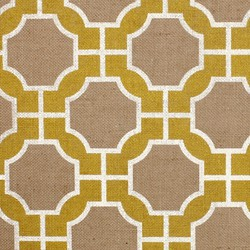 Imperial Gates Yellow and White on Jute | Wall coverings | Phillip Jeffries