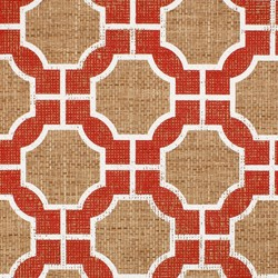 Imperial Gates Poppy and White | Wall coverings | Phillip Jeffries