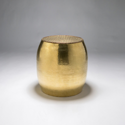 Pouf stool | side table | Tables d'appoint | Karen Chekerdjian