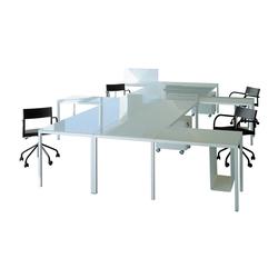 Sistemi tavolo sistemi di scrivanie per 5 persone for Bureau marguerite 4 personnes