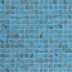 Aurore 20x20 Celeste S. | Glass mosaics | Mosaico+