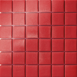 Area25 Rosso Grip | Glass mosaics | Mosaico+