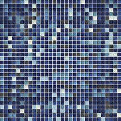 Cromie 10x10 Cobalto M Mix 7 | Glass mosaics | Mosaico+