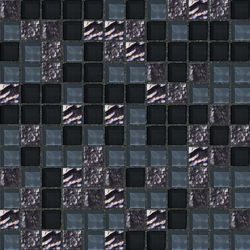 Cromie 23x23 Montenero | Glass mosaics | Mosaico+