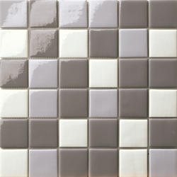Cromie 50x50 Mix Grigio | Glass mosaics | Mosaico+