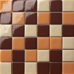 Cromie 50x50 Mix Marrone | Glass mosaics | Mosaico+