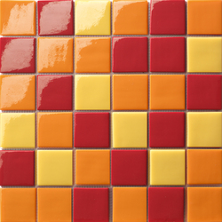 Cromie 50x50 Mix Arancio | Mosaïques en verre | Mosaico+