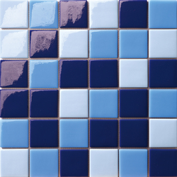 Cromie 50x50 Mix Blu | Glass mosaics | Mosaico+