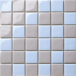 Cromie 50x50 Mix Grigio Azzurro | Glass mosaics | Mosaico+