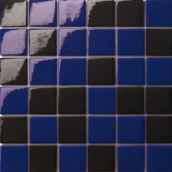 Cromie 50x50 Mix Nero Blu | Glass mosaics | Mosaico+