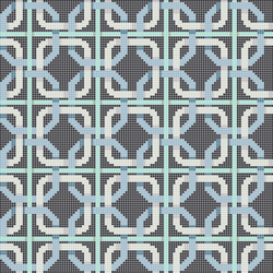 Decor 10x10 Double Chain Blu | Mosaïques en verre | Mosaico+