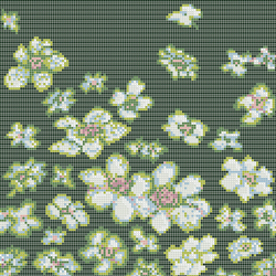 Decor 10x10 Wind Flowers Green | Glass mosaics | Mosaico+