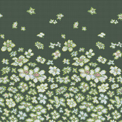 Decor Blooming | Wind Flowers Green 10x10 | Glass mosaics | Mosaico+