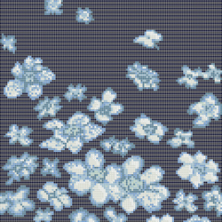 Decor 10x10 Wind Flowers Blu | Glass mosaics | Mosaico+