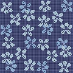 Decor 10x10 Nightbloom Blu | Glass mosaics | Mosaico+