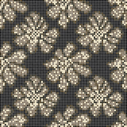 Decor 15x15 Dahlia Brown | Mosaici in vetro | Mosaico+
