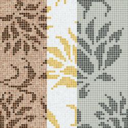 Decor 20x20 Garofano Oro Giallo | Mosaïques en verre | Mosaico+