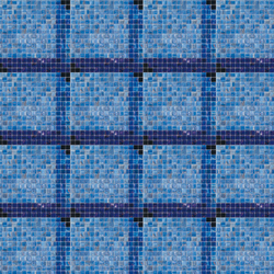 Decor 20x20 Dado Blu | Mosaïques en verre | Mosaico+