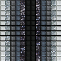 Decor 23x23 Shade Black Decoro | Mosaïques en verre | Mosaico+