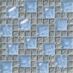 Decor 23x23 | 48x48 Frieze Gray Decoro | Glass mosaics | Mosaico+