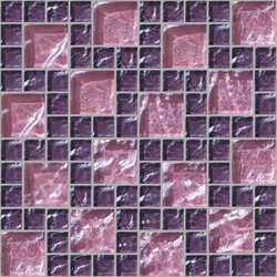 Decor 23x23 | 48x48 Frieze Pink Decoro | Mosaici in vetro | Mosaico+