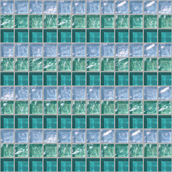Decor 23x23 Sequence Green Decoro | Mosaïques en verre | Mosaico+