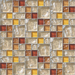 Decor 23x23 | 48x48 Link Beige Decoro | Glass mosaics | Mosaico+