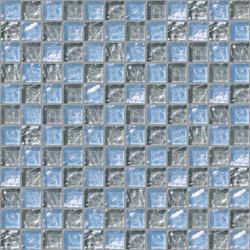 Decor 23x23 Chess Grey Decoro | Glass mosaics | Mosaico+