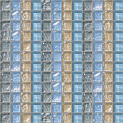 Decor 23x23 Quartet Grey Decoro | Glass mosaics | Mosaico+