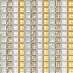Decor 23x23 Quartet White Decoro | Glass mosaics | Mosaico+