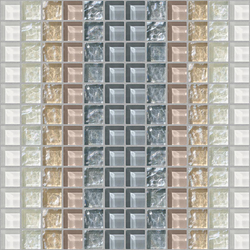 Decor 23x23 Shade White Decoro | Mosaïques en verre | Mosaico+
