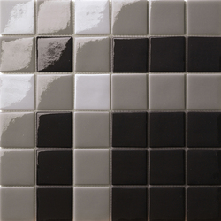 Decor 50x50 Cross Black | Glass mosaics | Mosaico+