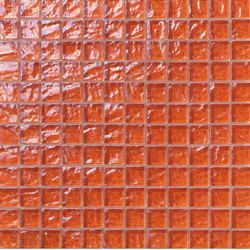Onde 23x23 Arancio | Glas Mosaike | Mosaico+