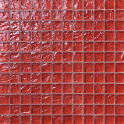 Onde 23x23 Rosso | Mosaïques verre | Mosaico+