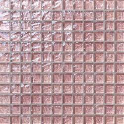 Onde 23x23 Rosa Antico | Glass mosaics | Mosaico+