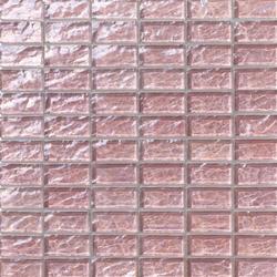Onde 23x48 Rosa Antico R | Glass mosaics | Mosaico+