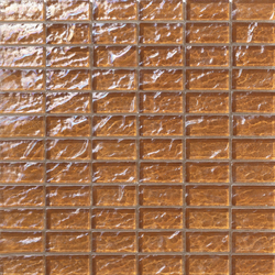 Onde 23x48 Marrone R | Glass mosaics | Mosaico+
