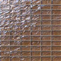 Onde 23x48 Tabacco R | Mosaïques verre | Mosaico+