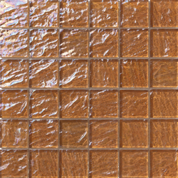 Onde 48x48 Marrone Q | Glass mosaics | Mosaico+