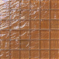 Onde 48x48 Marrone Q | Mosaïques verre | Mosaico+