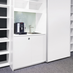 basic S Suspended door system | Office shelving systems | werner works