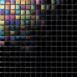 Perle 20x20 Nero | Glass mosaics | Mosaico+