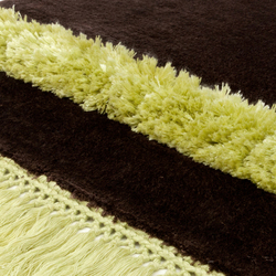 Funky Revolution solidbrown limegreen | Rugs / Designer rugs | Miinu