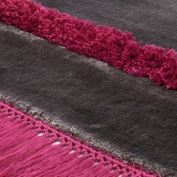 Funky Revolution stonegray brightpink | Tappeti / Tappeti d'autore | Miinu