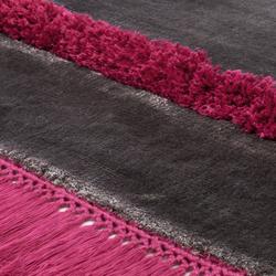 Funky Revolution stonegray brightpink | Rugs / Designer rugs | Miinu